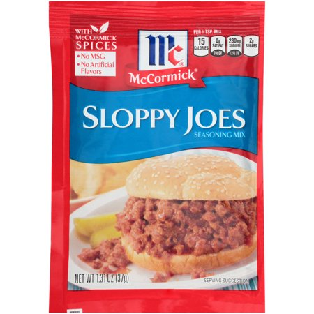 (4 Pack) McCormick Sloppy Joes Seasoning Mix, 1.31 oz