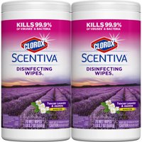 Clorox Scentiva Disinfecting Wipes (140 ct Value Pack), Tuscan Lavender and Jasmine - 2 Pack - 70 Each