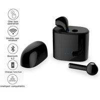 Wireless EarPod Headphones by Indigi® - Bluetooth 4.2 - Stereo Sync - Black