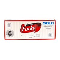 Solo Plastic Forks, White, 500 Ct