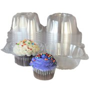 6c65bff0359 100pcs Plastic Cupcake Case Muffin Pods Dome Cups Cake Boxes