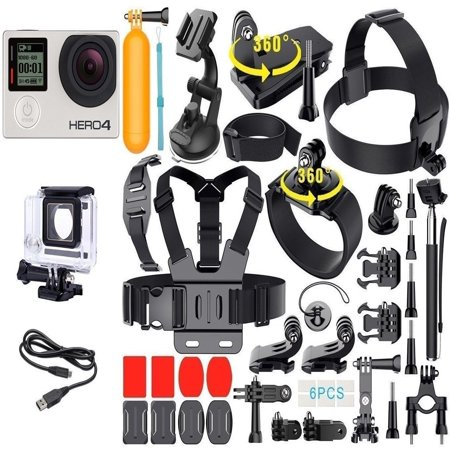 GoPro Hero 4 Silver Edition Touchscreen + 40 Pcs Extreme Sports Package