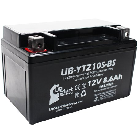 Replacement 2007 Honda VT600C, CD Shadow Deluxe 600CC Factory Activated, Maintenance Free, Motorcycle Battery - 12V, 8.6Ah, UB-YTZ10S-BS