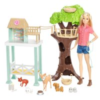 Barbie Pet Rescue Center Playset with Doll, 8 Animals & Accessories