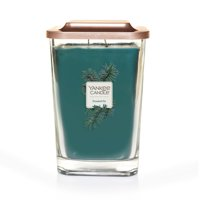 Yankee Candle Elevation Collection with Platform Lid Large 2-Wick Square Candle, Frosted Fir