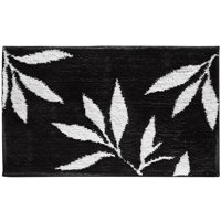 "InterDesign Microfiber Leaves Bathroom Shower Rug, 34""x 21"""