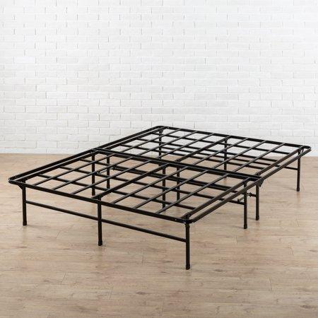 spa sensations by zinus 14 high profile foldable elite steel smart base bed frame with under. Black Bedroom Furniture Sets. Home Design Ideas