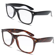 6a366b38a3 V.W.E. 2 Pairs Deluxe Reading Glasses - Comfortable Stylish Simple Readers  Rx Magnification - Anti-