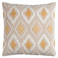 "Rizzy Home Diamond20"" x 20""COTTON CANVAS  decorative filled pillow"