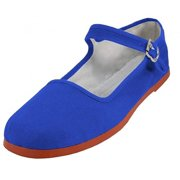 62be0b5b39d Shoes 18 Womens Cotton China Doll Mary Jane Shoes Ballerina Ballet Flats  114 Royal 9