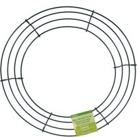 """Design It Wire Wreath 12"""", Green"""