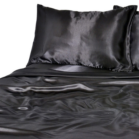 Luxury Satin 100 Percent Polyester Solid Sheet Set