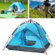 7616fc1d5c8 4 Person Family Camping Tents Cabin Canvas Swag Hiking Beach Automatic Double  Layer Camping Tent