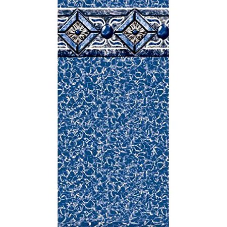 Pool Liner Above Ground Uni-Bead 12 Ft. x 24 Ft. Oval x 54 In. H - GLI Aqualiner Capri Tile Pattern - 25 ML Gauge - 20 Year Warranty - Made USA ()