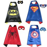 Best Gift For Birthday PartyToddlers Superhero Costumes 4Pcs Capes And Masks