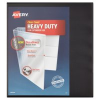 "Avery(R) Heavy-Duty Binder, 1"" One Touch Rings, 250-Sheet Capacity, DuraHinge(TM), Black, 79137"