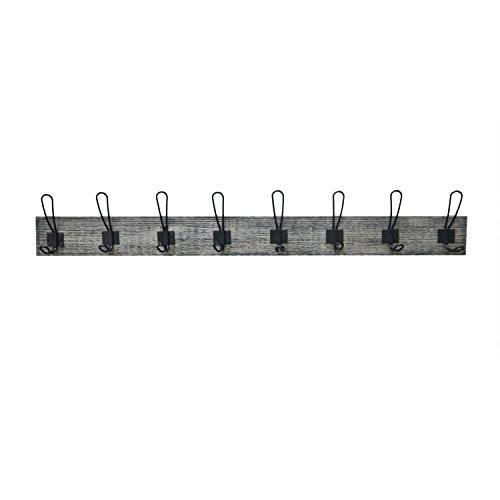 Black Metal Cast Iron Motorcycle Wall Black 8 Length 4-Peg Hook Rack