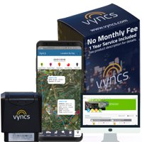 GPS Tracker Vyncs No Monthly Fee Real Time 3G OBD Car Tracker, Trips, Engine Diagnostics, Fleet Vehicle Tracking, Unsafe Driving Alerts, Teen Vehicle Tracker, Optional Roadside Assistance