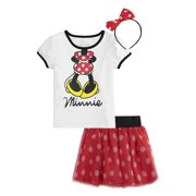 830c75efb1 Minnie Mouse T-Shirt, Tutu Skirt, & Headband, 3pc Outfit Set (