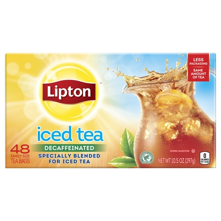 Lipton Black tea Family Iced Tea Bags, 48 -