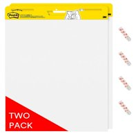 Post-it Self-Stick Easel Pad Twin Pack w/ Bonus Command Strips, 20in. x 23in Pads