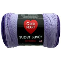 Red Heart Super Saver Ombre Violet Yarn, 482 Yd.