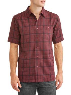 Men's and Big Men's Short Sleeve Microfiber Shirt, up to size 5XL