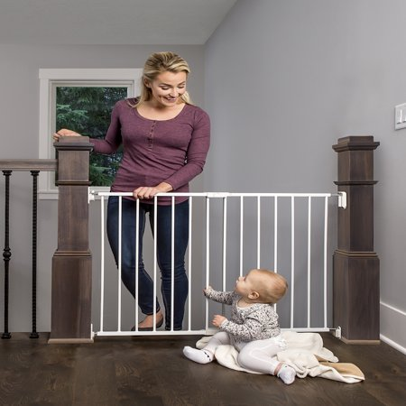 - Regalo Extra Wide 2-in-1 Stairway and Hallway Safety Gate with Mounting Kit