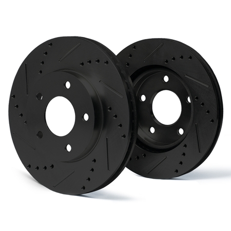 Max Brakes Rear E-Coated Slotted Drilled Rotors Elite Brake Rotors SY076982 | Fits: 2003 03 2004 04 Cadillac CTS w/ FE1 Soft Ride Suspension; Non CTS-V Models - image 5 of 5