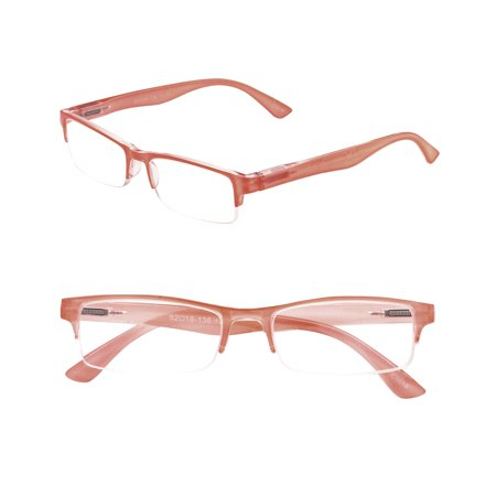 Rimless Spring (POP Fashionwear  R210 Unisex Rectangle Pastel Rimless Spring Hinge Readers )
