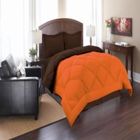 Elegant Comfort Goose Down Alternative Reversible 3pc Comforter Set- Available In A Few Sizes And Colors , King/Cal King, Orange/Chocolate