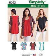 f257c24a1 Simplicity Misses  Size XXS-XXL Easy-To-Sew Tops Pattern