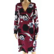 7cc956a5f4 Alexia Admor NEW Purple Womens Size Small S Floral Belted Wrap Dress