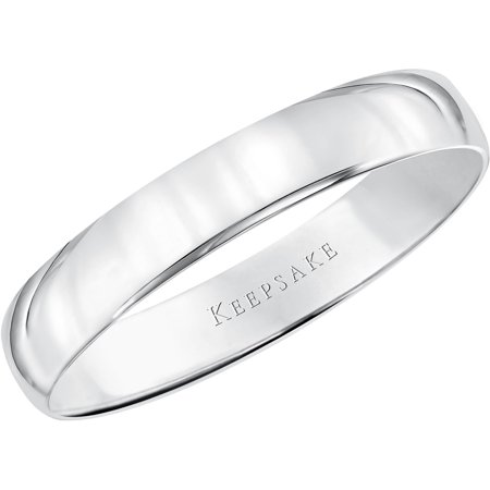 14kt White Gold Comfort Fit Wedding Band,