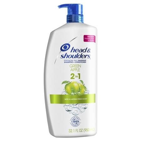 Care 2in 1 Dandruff Shampoo (Head and Shoulders Green Apple Anti-Dandruff 2 in 1 Shampoo and Conditioner, 32.1 fl oz )