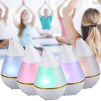 EEEKit Aromatherapy Essential Oil Diffuser Portable Ultrasonic Diffusers Cool Mist Humidifier with 7 Colors LED Lights for Home Office Bedroom