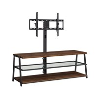 """Mainstays Arris 3-in-1 TV Stand for Televisions up to 70"""", Perfect for Flat Screens, Canyon Walnut Finish"""