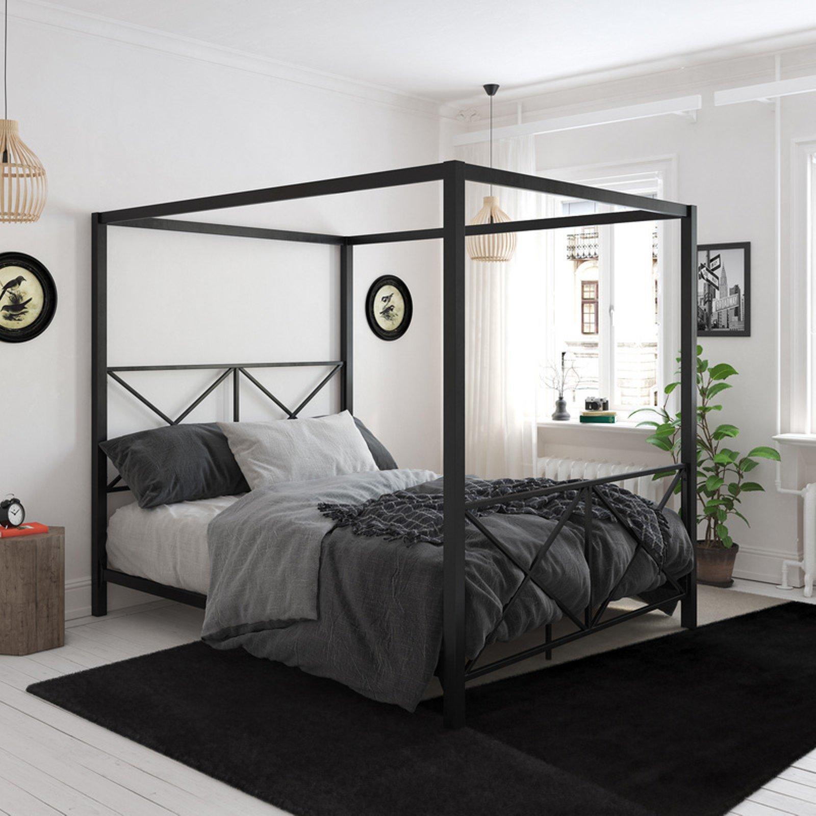 DHP Rosedale Metal Canopy Bed Frame Multiple Sizes Multiple Colors & Canopy Bed Frames