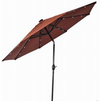 Better Homes and Gardens 9' Round Umbrella with Solar Lights