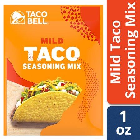 Taco Bell Mild Taco Seasoning Mix 1 Oz Envelope Walmart Com