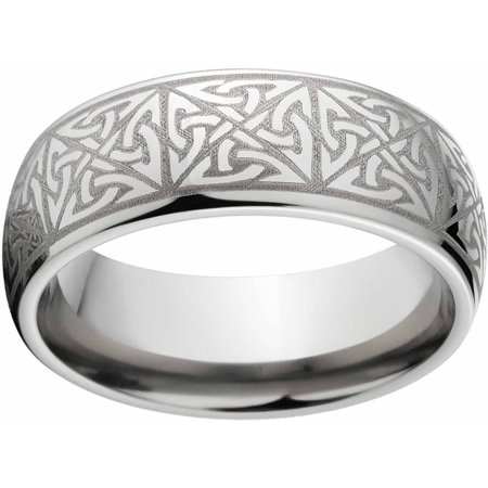 Men's 8mm Celtic Titanium Band with Comfort Fit