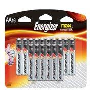 Energizer MAX Alkaline, AA Batteries, 16 Pack