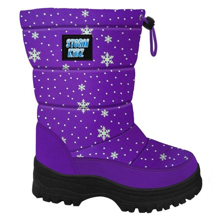 Storm Kidz Girls Cold Weather Snow Boot Puffy (Toddler/Little Kid/Big Kid) MANY