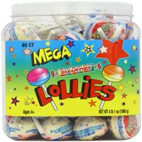 Mega Lollies, 4 Lb, 60 Ct