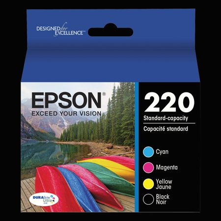 Epson 220 DURABrite Ultra Black/Color Combo Pack Ink Cartridges 140 Retail Combo Pack