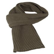 Sakkas Ellington Unisex Knit Scarf - Ribbed Knit Olive - One Size