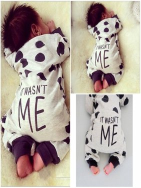 2016 Newborn Toddler Infant Baby Boy Girl Dot Romper Jumpsuit Bodysuit Clothes Outfits
