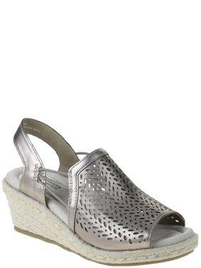Earth Spirit Womens Metallic Wedge Sandals