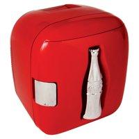 Koolatron Coca-Cola 12 can Compact Electric Cooler 110 V & 12V CCU09, Red Heritage Can Design