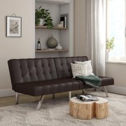 Mainstays Morgan Tufted Convertible Modern Euro Futon, Multiple Finishes